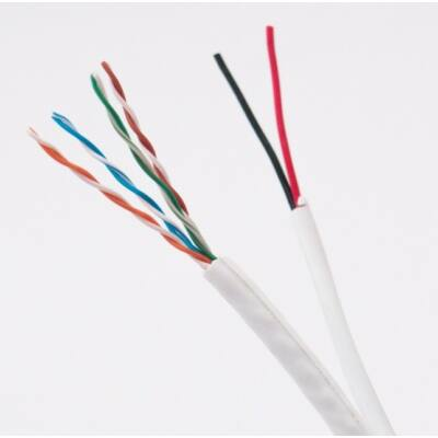 UTP kábel fali CAT5e 4x2xAWG24 + 2x0,5 mm2 táp kábel