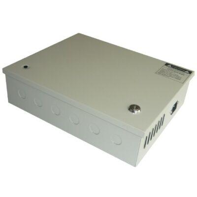12.5A 12V ipari tápegység zárható fém dobozban, potméterrel állítható feszültségszint