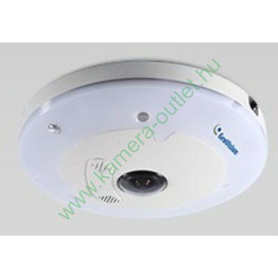 GeoVision GV FE3403 3.0 Mpixel IP beltéri panoráma kamera, beépített speciális halszem objektívvel, IR megvilágító koronával