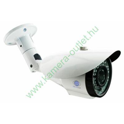 "DIGICAM DIB-3025V 1.3MP IP Kültéri IR kamera, 1/2.8"" CMOS, 1280x960 felbontás, valós D&N, 2.8-12mm (83°-28°), max. 20-30m IR táv (36db), analóg kimenet, audió bemenet, H.264/MJPEG, ONVIF, 12V DC, fehér"