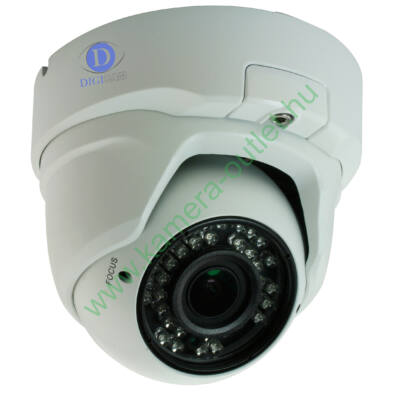 DIGICAM DID-4015V  2.0MP IP Kültéri IR dóm kamera, valós D&N, 2.8-12mm (83°-28°), max. 20-30m IR táv (24db SMD IR LED - ÚJ TECHNOLÓGIA!), analóg kimenet, audió bemenet, reset gomb, H.264/MJPEG, ONVIF,magasított ház