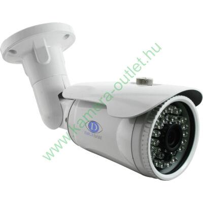 DIGICAM DTB-4010 HD-TVI Kültéri IR cső kamera, 2.0MP SONY CMOS, 1080p/25fps felbontás, 3.6mm (81°) optika, max. 25m IR táv