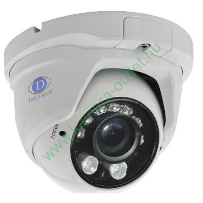 DIGICAM DTD-3030V HD-TVI Kültéri IR dóm kamera, 1.3MP felbontás, 2,8-12mm (87°-27°) optika , max. 25-35m IR táv (2+7db Power LED)