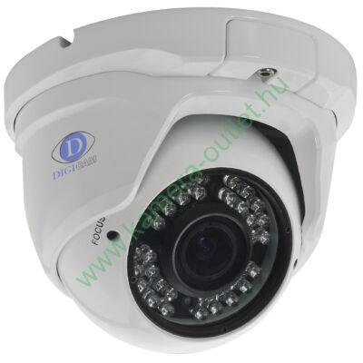 DIGICAM DTD-4030V HD-TVI Kültéri IR dóm kamera, 2.0MP SONY CMOS, 1080p/25fps felbontás, valós D&N, 2,8-12mm (87°-27°) optika, max. 20-30m IR táv (36db)