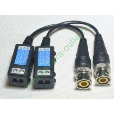 Passzív balun analóg/TVI/AHD/CVI kamerákhoz 5 Mpixel felbontásig, 1 pár (2 db), túlfeszszültség védelemmel
