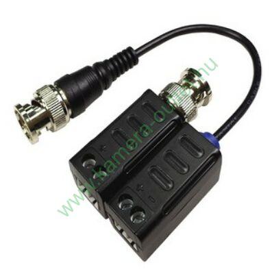Folksafe HDP4001 HD passzív balun analóg/TVI/AHD/CVI kamerákhoz, 1 pár (2 db)