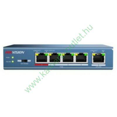 5 portos PoE switch; 4 PoE + 1 uplink port; nem menedzselhető
