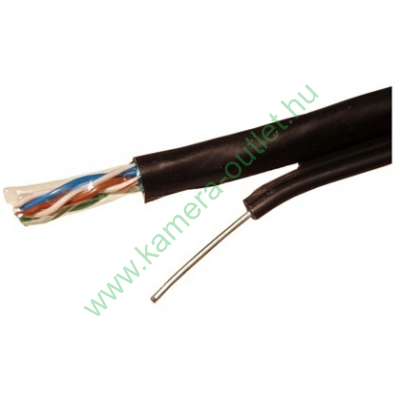 FTP kábel fali CAT5, kültéri időjárásálló, UV álló, acél feszítőszállal