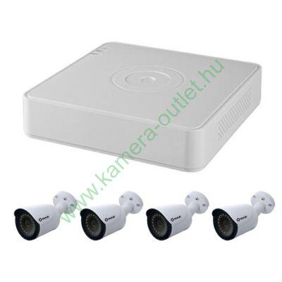 4 kamerás szett (4db FullHD kamera, 5 kamerás rögzítő, 40m kábel, csatlakozók), 3 év garanciával!