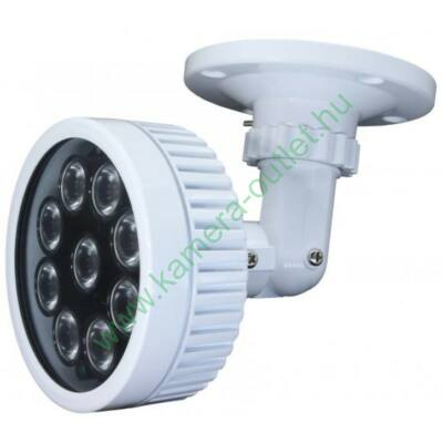 MZ iR100  kültéri IR sugárzó, Kültéri IR sugárzó, 60º-os sugárzási szög, 9 POWER IR LED max. 60m IR táv, 12V DC