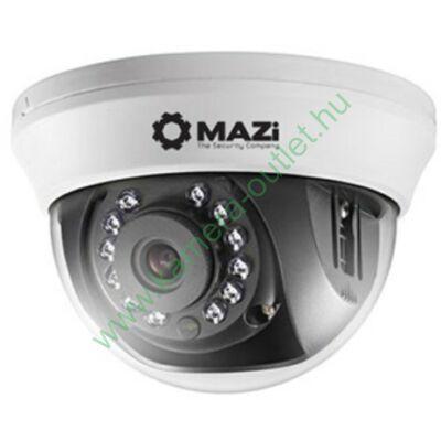 MAZI TDH 21IRL beltéri 2 Mpixeles HDTVI dóm kamera (analóg rögzítőköz is), max 20m IR táv, 91° látószög! 3 év garancia, díjtalanul szállítjuk!