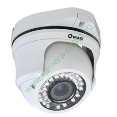 MAZI TVE-11VR 1.3 MPixel Kültéri dóm kamera, HDTVI és Analóg rögzítőkhöz is! Manuálisan zoomolható,  92,6° látószög, max 30m IR táv, 2 év gar.,Díjtalanul szállítjuk!