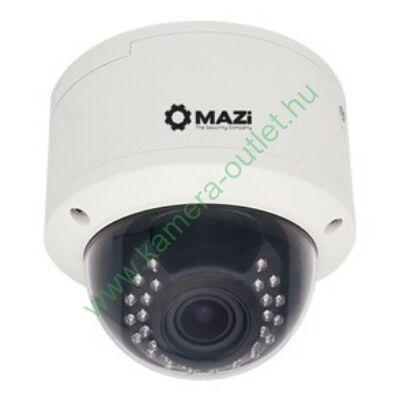MAZI TVE 22MR 2MPixel Kültéri dóm kamera, Smart IR, TVI és Analóg rögzítőkhöz is, 2.8-12mm(92,6-27,4°), 30m IR táv (24db), 2 év gar.