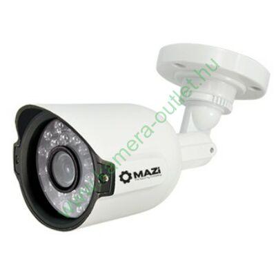 MAZI TWE-11IR 1MPixel Kültéri cső kamera, Smart IR, TVI és Analóg rögzítőkhöz is 15-20m IR táv (24db), 2 év gar.