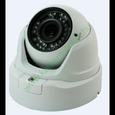 MZ A30 Kültéri analóg dóm kamera, 800TV sor felbontás. manuálisan zoomolható optika , max 30m IR táv, emelt kameraház, 81° látószög, 3 év garancia